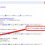 Keyword Marketing Research pays off! Page 2 on Google after 3 days!